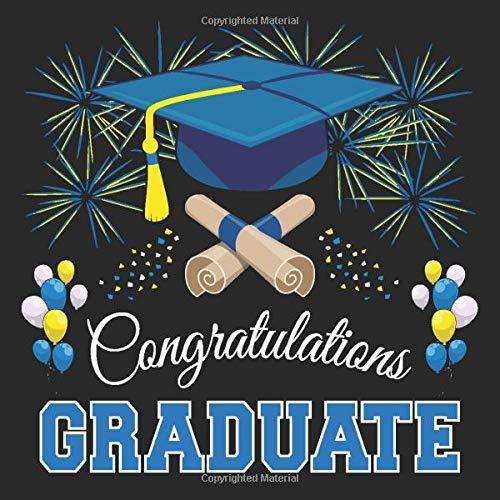 Graduation Guest Book: Congratulations Graduate GuestBook + Gift ...