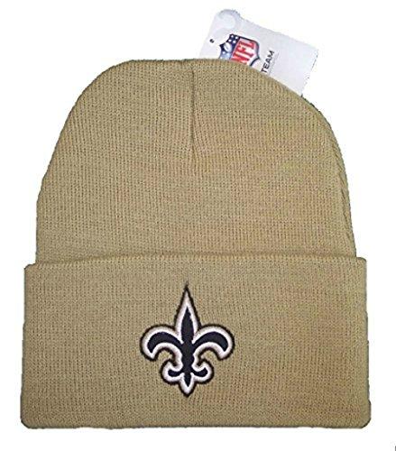 Team Colors Knit Beanie (New Orleans Saints Team Color Gold Knit Cuff Beanie Hat Cap)