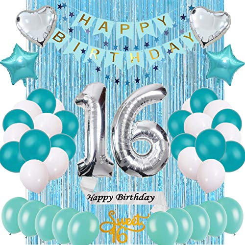 Sweet 16th - Sweet 16 16th Birthday Party Decorations,