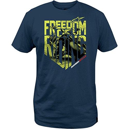 Alpinestars Quality T-shirt - ALPINESTARS Tee T-Shirt Freedom Photo Blue L Large