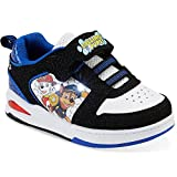 Paw Patrol Boys Toddlers Blue/Black/White Sneakers Light Up Shoe (11 M US Little Kid, Black/White/Blue)