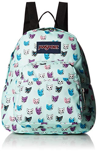 JanSport Half Pint Backpack Brook Green Cool Cats