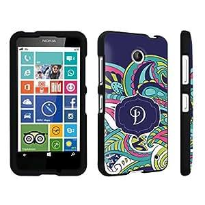 Zheng case Nokia Lumia 630 Hard Case Black - (Mint Flower Monogram D)