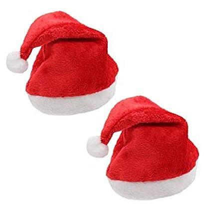 Buy Masti Zone Set of 2 Christmas Santa Claus Hat   Santa Claus Cap Merry Christmas  Hat Cap for Christmas  Xmas Party Celebration (Cap Santa 2) Online at ... 78a41abcd881