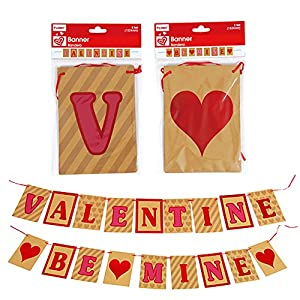 Valentine's Day VALENTINE and BE MINE Banners Decor (5 ft.) - 2 Pack from Nygala Corp.