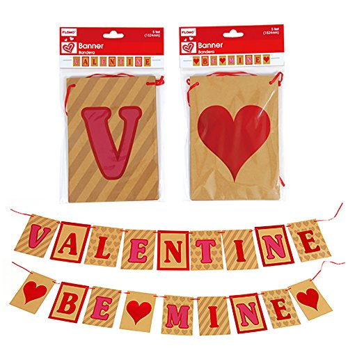Valentine's Day VALENTINE and BE MINE Banners Decor (5 ft.) - 2 Pack (Sexy Outfits Online)