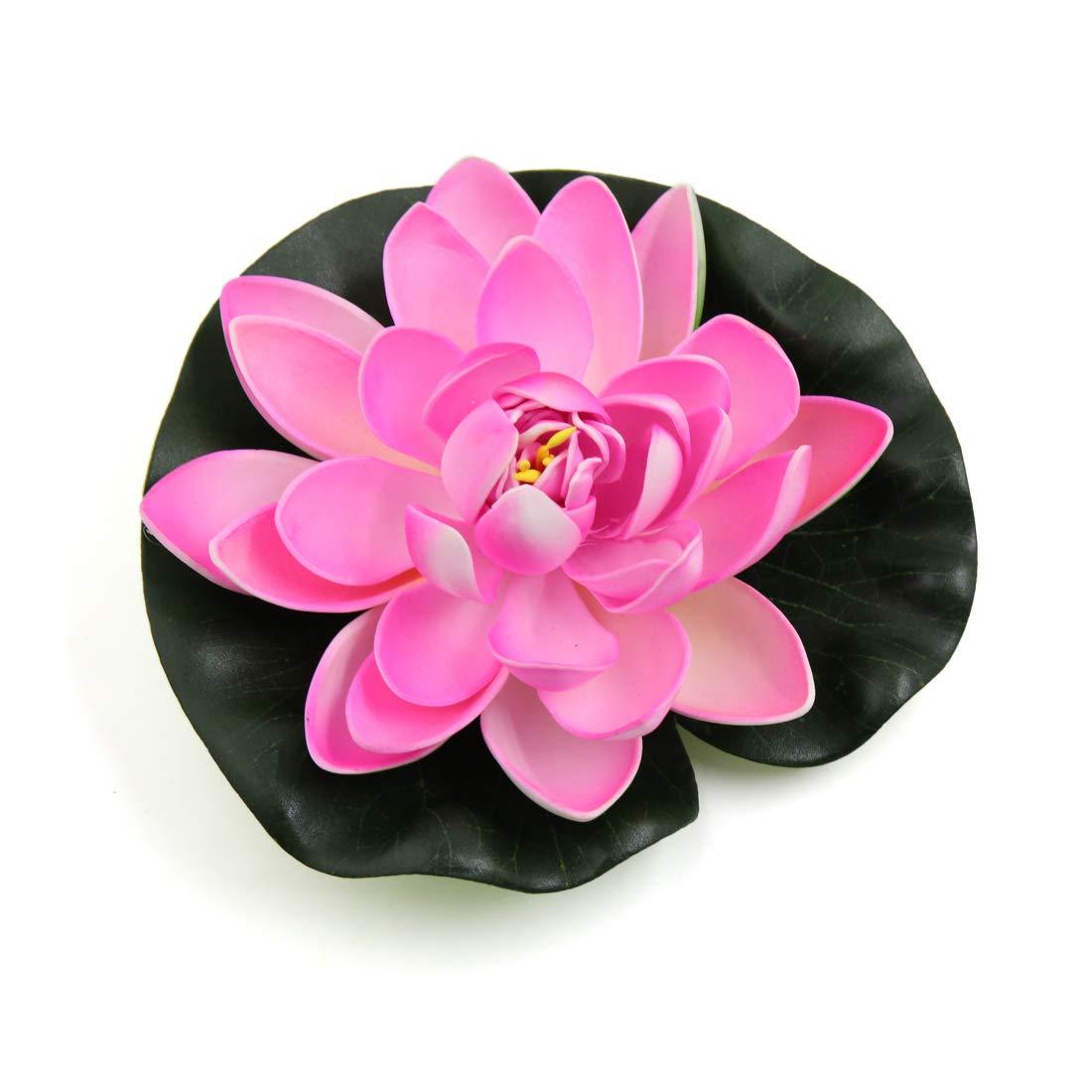 Uxcell Pink Foam Lotus Flower Aquarium Pond Decor Floating Plant