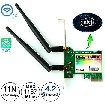 Amazon.com: Ubit WiFi Card, 300Mbps Dual-Band PCIe Express ...