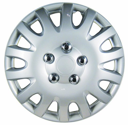 16 white hubcaps - 8