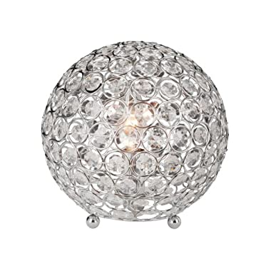 Elegant Designs LT1026-CHR Crystal Ball Table Lamp