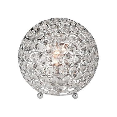 Elegant Designs LT1026-CHR Crystal Ball Table Lamp