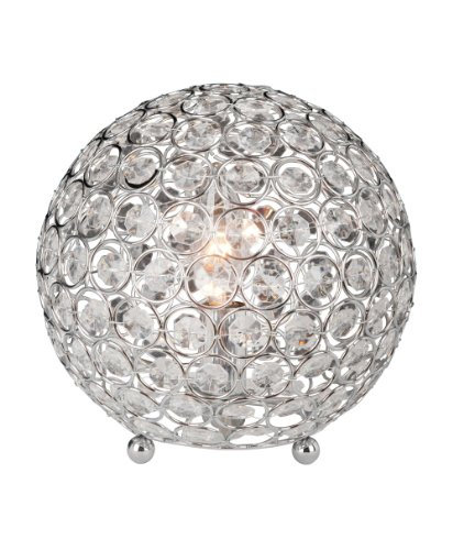 Elegant Designs LT1026-CHR Crystal Ball Table Lamp (Lamp Lamp Table Chrome)