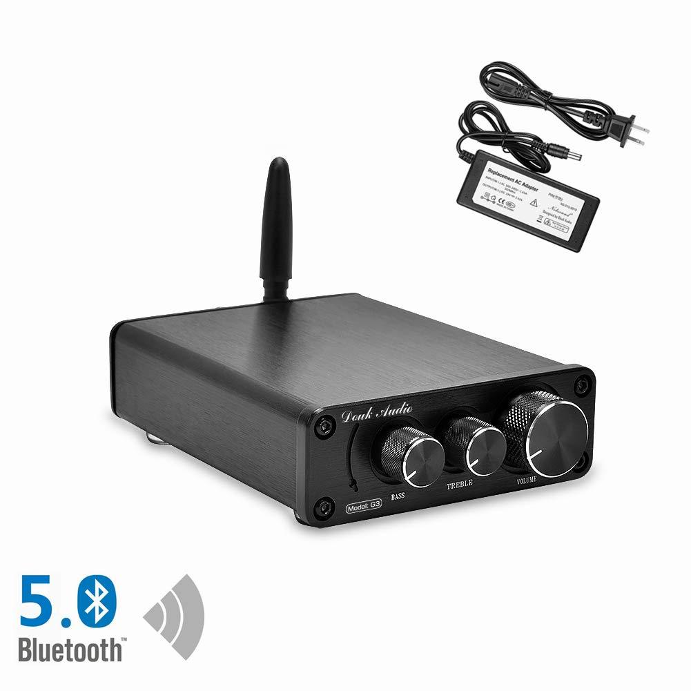 Nobsound G3 2 Channel Bluetooth 5.0 Amplifier , Class D Stereo Audio Amplifier , Mini Home Theater Power Amp , Digital Power Amplifier Receiver , 100W , Treble & Bass Control (Black)
