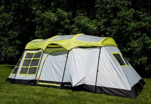 Tahoe Gear Glacier 14 Person 3-Season Family Cabin C&ing Tent u2013 Green/Grey & Tahoe Gear Glacier 14 Person 3-Season Family Cabin Camping Tent ...