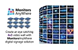 Network Video Wall - Create a 4x3 video wall to display your content! enabled by Monitors AnyWhere