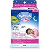 Hyland's Baby Nighttime Oral Pain Relief Tablets, Soothing Natural Relief of Oral Discomfort, Irritability, and Swelling 125 Count