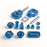 MojoMotoSport Husqvarna Bling Kit - Blue - CNC Billet Anodized Aluminum - MOJO-HUS-BK1