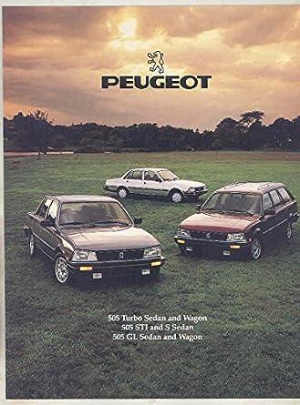 1986 Peugeot 505 Turbo STI S GL Brochure