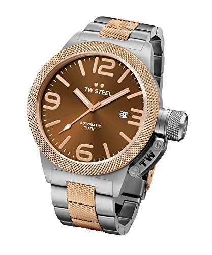 TW Steel Men's Canteen Watch Rose Gold PVD Stainless Brac...
