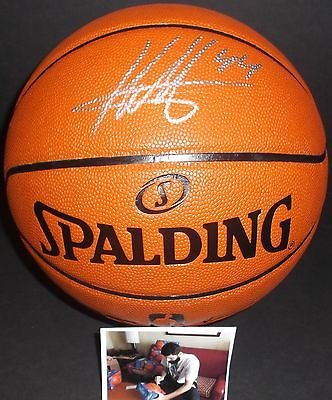 Nikola Mirotic Chicago Bulls Autographed Signed NBA Basketball W/ Proof Picture (Signed Basketball)