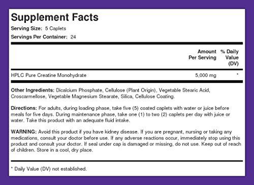Creatine Monohydrate 1000 mg 240 Coated Caplets