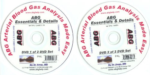 ABG Blood Gas DVD Set of 2 DVDs - Essentials and Details of ABG DP1.10 and DP2.10 - Anericas Las
