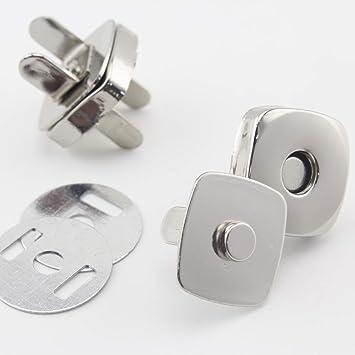 14 mm, 15 mm, 18 mm cuadrado magnético broche de botón ...