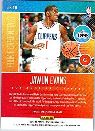 2017 Panini Prestige Mist #186 Jawun Evans Rookies Los Angeles Clippers Rookie
