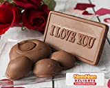 I Love You Valentines Day Gift | Gourmet Chocolate Gift Box | Milk Chocolate Covered Pecans and Caramel Clusters| 14 Oz