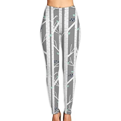 f59a33307aba4 Amazon.com  Women s Yoga Pants Walk in The Woods Pattern High-Waist Yoga  Leggings  Clothing