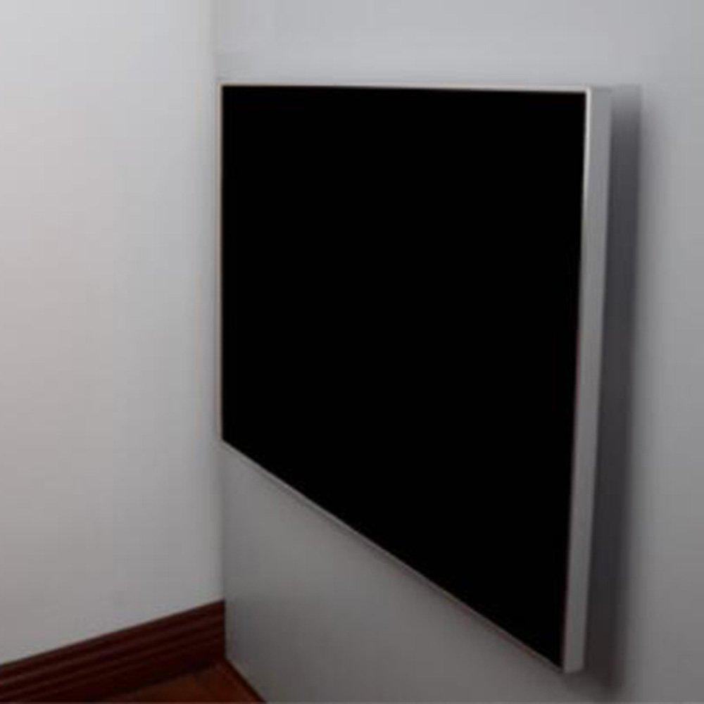 XIA 折り畳みテーブル ウォールテーブルウォールマウントのドロップリーフテーブル、折りたたみキッチンダイニングテーブルデスク3つのサイズのアルミ合金エッジブラックシャンパンオレンジ 折りたたみテーブル (色 : ブラック, サイズ さいず : 80*50CM) B07DTCV1Y2 80*50CM|ブラック ブラック 80*50CM