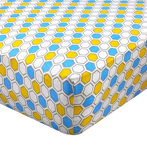Abstract Fitted Crib Sheet for Standard and Full Size Cribs and Toddler Beds - 28