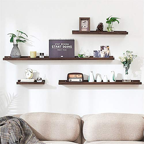 DERTHWER Utility Shelves Creative Solid Wood Partition Wall Shelf Living Room TV Background Wall Decoration Wall Partition Retro Multi-Functional Racks (Color : 60cm, Size : Logs)