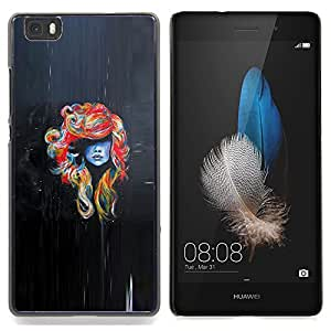 - Woman Colorful Hair Crazy Beautiful - - Monedero pared Design Premium cuero del tir???¡¯???€????€???????????&A