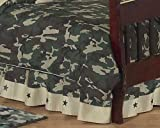 Sweet Jojo Designs Green Camo Bed Skirt for Toddler Bedding Sets