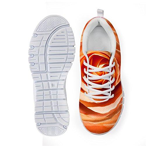 Bigcardesigns Damesmode Mooie Print Sportschoenen Sneakers Lace Up Bloemen 3