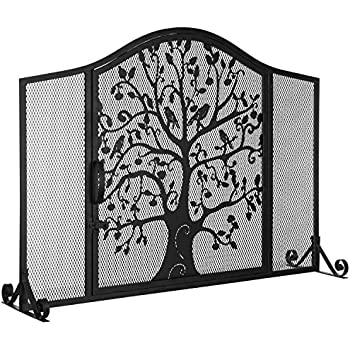 Amazon Com Plow Amp Hearth Small Tree Life Metal Fireplace