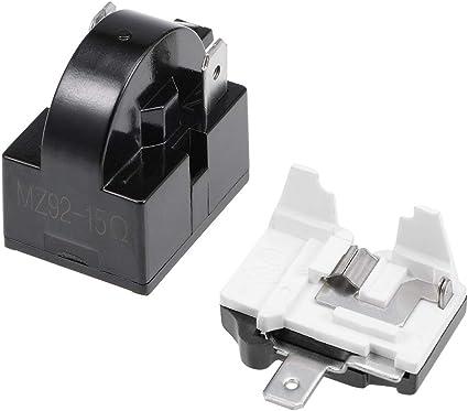 Sourcing Map Kühlschrank Ptc Starter Relais 15 Ohm 2 Pin Kompressor Überlast Schützer 1 6hp Küche Haushalt