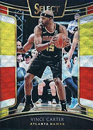 112bd1a6cdc 2018-19 Panini Select Tri-Color Prizms #82 Vince Carter Atlanta Hawks  Basketball
