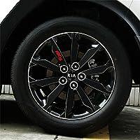 DeAutoBug Car 4 Wheels Decoration Sticker Cover Caps for Kia Sportage 2017 (black)