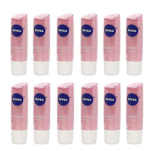 NIVEA Shimmer Radiant Lip Care 0.17 oz Pack of 12