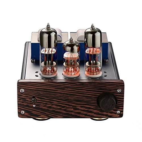 Nobsound Mini 20-Watt 6N6+6N2 Vacuum Tube Amplifier SEPP Class AB Desktop Stereo Power Amp for HiFi Home Audio Sound System Nobsound