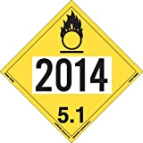 Labelmaster ZT6-2014 UN 2014 Oxidizer Hazmat Placard, Tagboard (Pack of 25)
