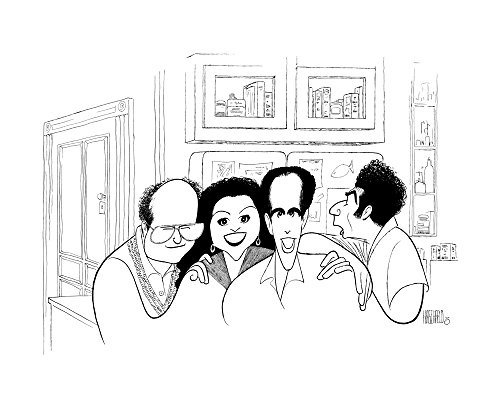 AL HIRSCHFELD'S: SEINFELD FINALE, Hand Signed by Al Hirschfeld, C of A, Ltd Ed, JERRY SEINFELD, JASON ALEXANDER, JULIA LOUIS DREYFUS, and MICHAEL RICHARDS