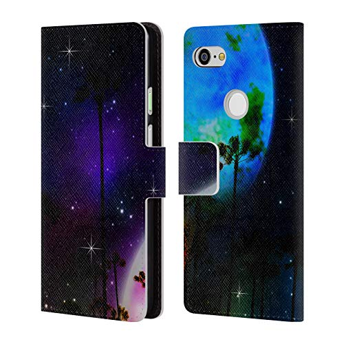 (Official Haroulita Laguna So Cal Space Leather Book Wallet Case Cover for Google Pixel 3 XL)