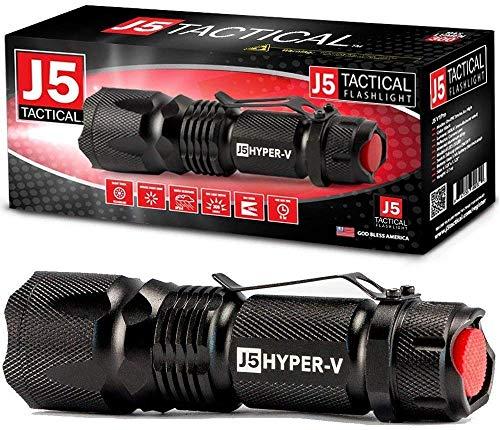 J5 Tactical - Hyper V Ultra Bright Tactical Flashlight - Black