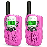 Tisy Gifts for 3-12 Year Old Girls, Long Range Walkie-Talkies for Kids Gifts for Teen Girls Toys for 3-12 Year Old Boys Gifts for Kids age 4-5 Pink TsUKDJT06