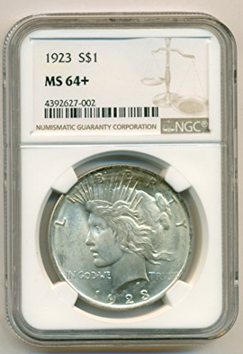 1923 Peace Silver Dollar MS64+ NGC