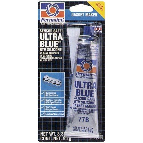 - Permatex ® 81724 Ultra Blue Multipurpose RTV Silicone Gasket Maker - 3.35 oz Tube (77B) (1)