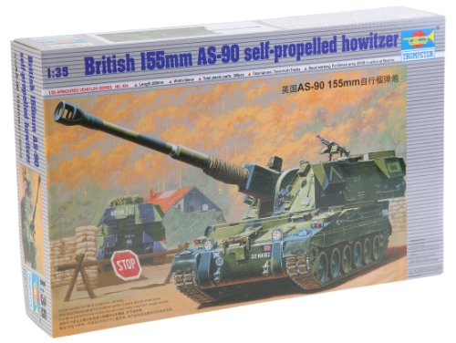 Trumpeter 1/35 British 155mm AS90 Self-Propelled - Howitzer Propelled Self